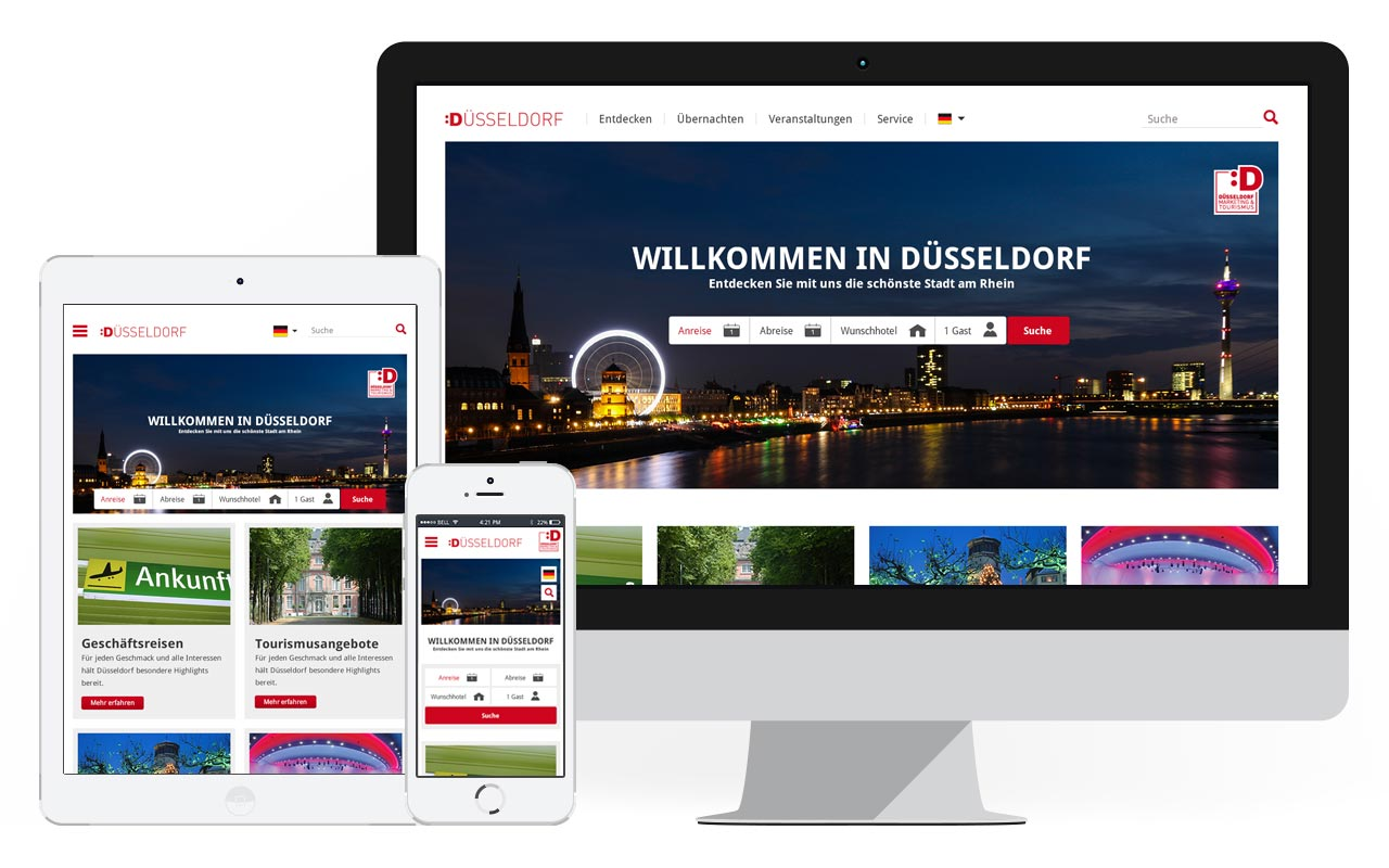Screenshots Düsseldorf Marketing & Tourismus